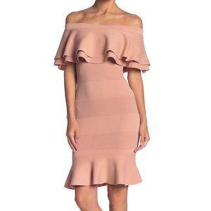 Endless Rose Knit Off-the-Shoulder Bandage Dress S